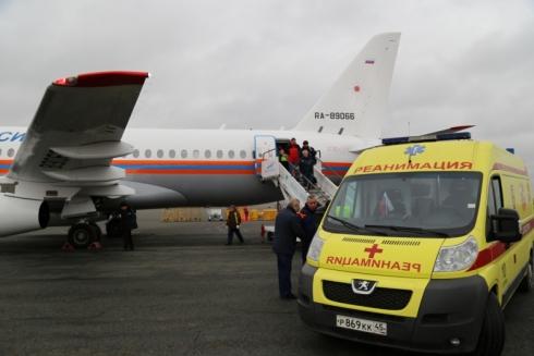 Из Кургана спецборт МЧС доставил тяжелобольную 7-месячную девочку в Нижний Новгород